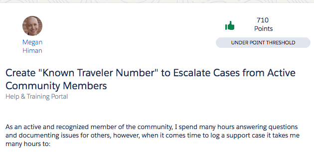 Success Community Idea Create Known Traveler Number